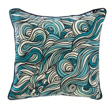 Swirls Linen Throw Pillow