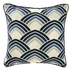 Deco Lines Linen Throw Pillow