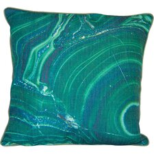 Marble Emerald Linen Throw Pillow