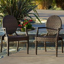 Comparison Giesel PE Wicker Outdoor Chair (Set of 2)