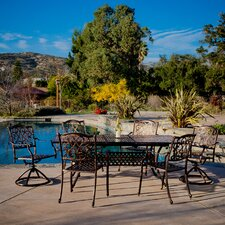 Cozumel 7 Piece Cast Aluminum Dining Set