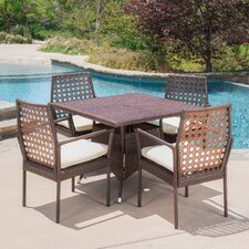 Marrero 5 Piece Dining Set with Cushions