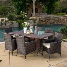 Bondy 7 Piece Dining Set with Cushions