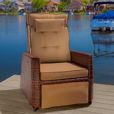 Penzance PE Wicker Outdoor Recliner