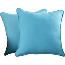 Weymouth Indoor/Outdoor Solid Throw Pillow (Set of 2)