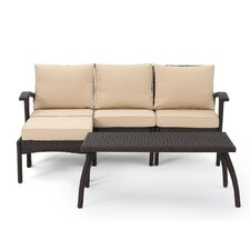 Arison 5 Piece Outdoor Deep Seating Group With Cushion