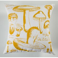 Uruli Mushroom Cotton Throw Pillow