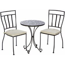 Mapleton 3 Piece Bistro Set with Cushions