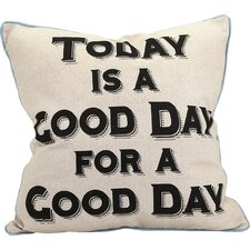 Good Day Indoor/Outdoor Throw Pillow