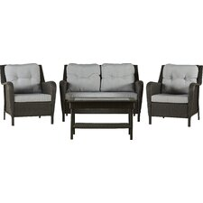 Rockland 4 Piece Deep Seating Group with Cushion