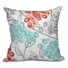 Chenango Hydrangeas Floral Print Outdoor Throw Pillow