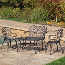 Powder Hill Cast Aluminum 4 Piece Seating Group