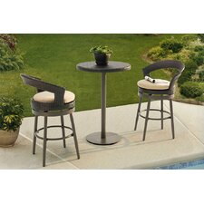 Clare 3 Piece Counter Height Bistro Set with Cushions