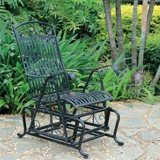 Snowberry Iron Single Patio Glider Chair