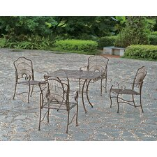 Snowberry 5 Piece Iron Patio Dining Set