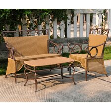 Meetinghouse 3 Piece Patio Lounge Seating Group