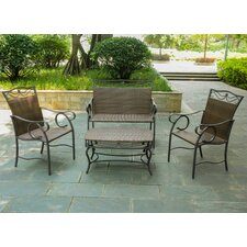 Meetinghouse 4 Piece Patio Lounge Seating Group