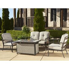 Pavilion Conversation 5 Piece Seating Group with Cushions