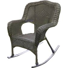 Wyndmoor  Wicker Resin Outdoor Rocking Chair (Set of 2)