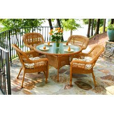 Baden 5 Piece Dining Set with Cushions