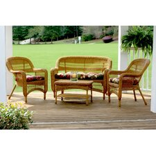 Baden 4 Piece Lounge Seating Group with Cushion