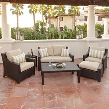 Northridge 6 Piece Deep Seating Group in Espresso with Cushions