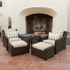Wonderful Northridge 5 Piece Deep Seating Group with Cushions
