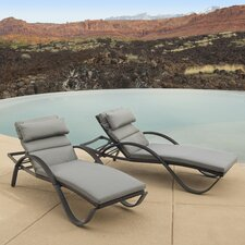Northridge Chaise Lounges with Cushions (Set of 2)