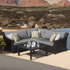 Northridge 4 Piece Setting Group with Cushions