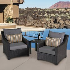 No Copoun Northridge 3 Piece Setting Group with Cushions