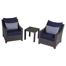 Northridge 3 Piece Deep Seating Group with Cushions