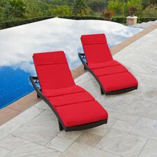 Northridge Chaise Lounge with Cushion (Set of 2)
