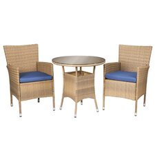 Saxonburg 3 Piece Bistro Set