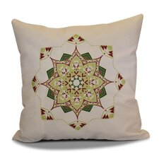 Snowflake Star Outdoor Throw Pillow