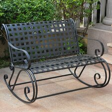 Snowberry Scroll Double Patio Rocker