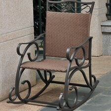 Snowberry Wicker Resin & Steel Patio Rocking Chair