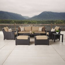 Northridge 8 Piece Deep Seating Group in Espresso with Cushions