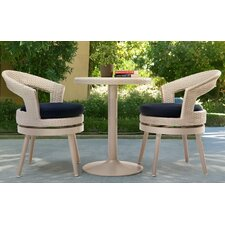 Clare 3 Piece Bistro Set with Cushions