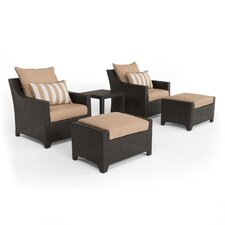 Northridge 5 Piece Deep Seating Group in Espresso with Cushions