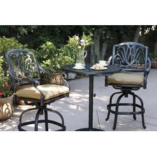 Lebanon 3 Piece Bar Set with Cushions