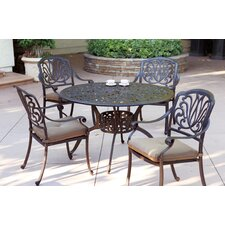 Read Reviews Lebanon 5 Piece Dining Set with Cushions