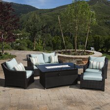 Northridge 5 Piece Fire Pit Set with Cushions