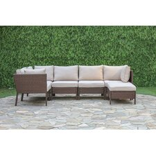 Berenice 6 Piece Outdoor Sectional Deep Seating Group with Cushions