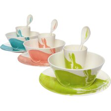 Melamine Bunny 4 Piece Place Setting