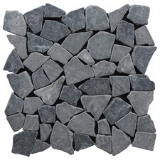 Fit Random Sized Natural Stone Pebble Tile in Grey
