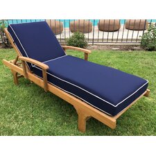 Jaya Chaise Lounger with Sunbrella Cushions