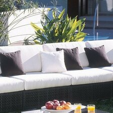 Best #1 Soho Patio Lounge Armless Chair with Cushion