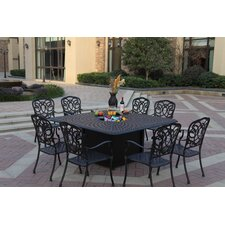 Florence 9 Piece Dining Set with Cushions