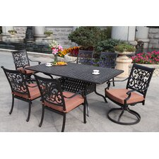 St Cruz 7 Piece Dining Set with Cushions