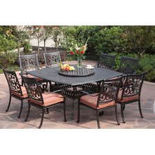 St Cruz 10 Piece Dining Set with Cushions